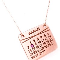 Cute Calendar Necklace