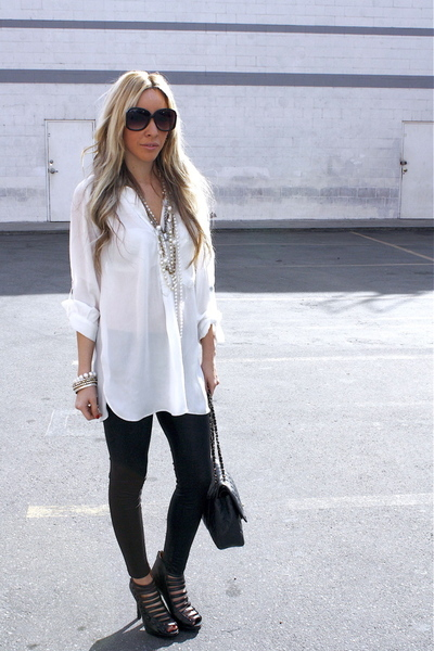 How To Wear A Black And White Blouse 83