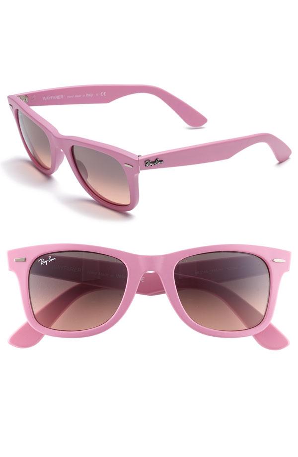 pink wayfarer ray bans