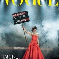 Milla Jovavich Gets Political in Vogue Italia