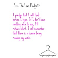 'Pass The Love' Pledge