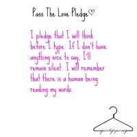 'Pass The Love' Pledge
