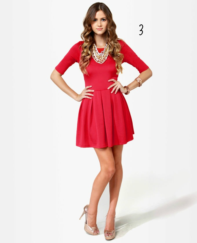 6 - Red Dress For Christmas Party