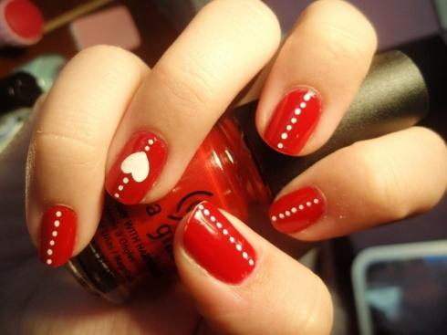 Valentine nails 2