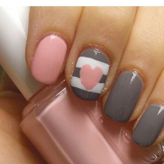 Cute Nail Designs For Valentines Day Easy Cute Valentine S Day Nail Designs  For Valentines Day