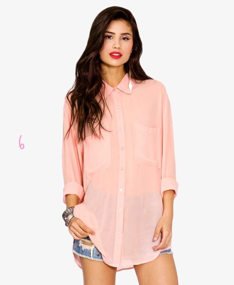 Peach Pink Shirt | Is Shirt