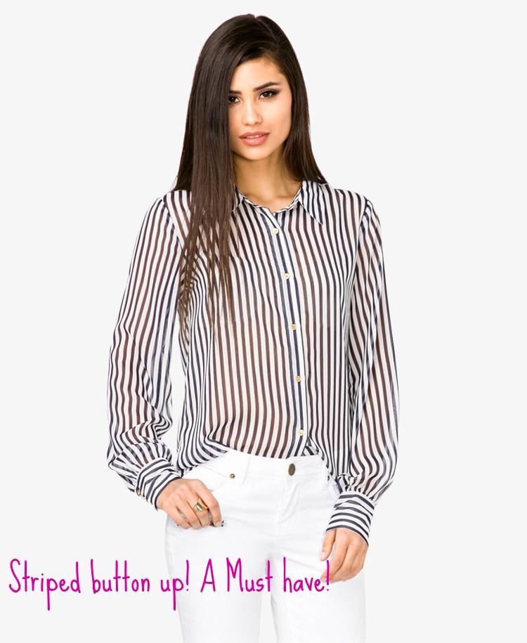 Crepe striped shirt