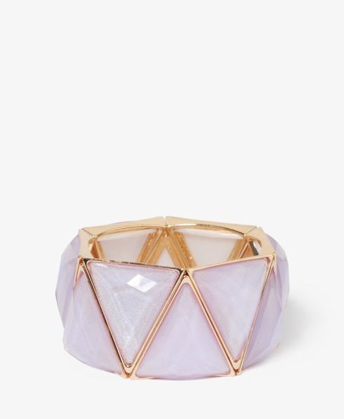 lilac pyramid bangle