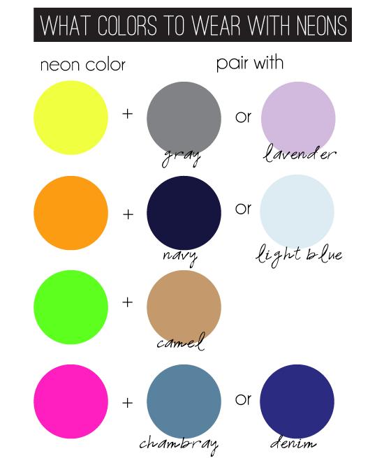 neon colors