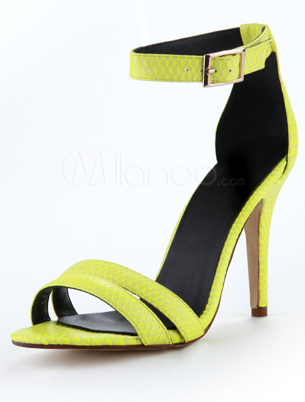 Yellow Heels With Ankle Strap - Is Heel