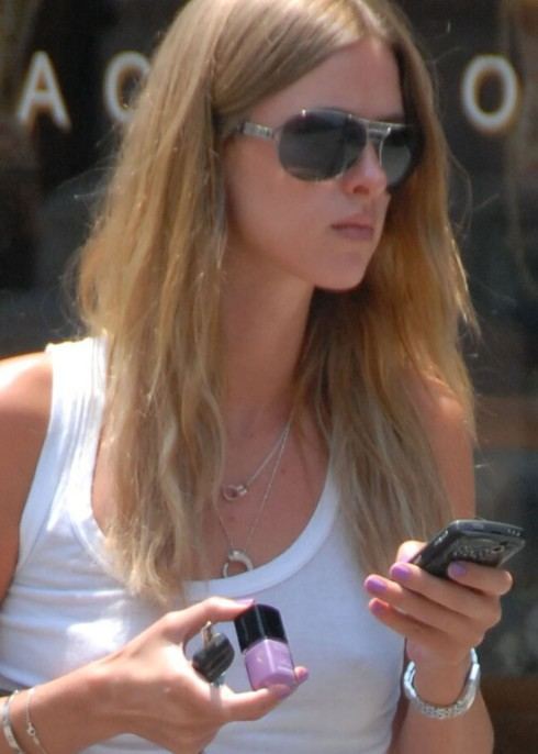 Nicky Hilton gets her nails done at Beverly Hills Nail Design on June 24, 2008 in Beverly Hills, California