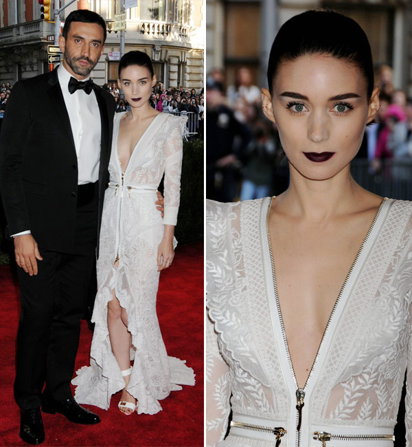 Rooney mara in white givenchy