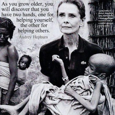 Audrey Hepburn Quotes Hands