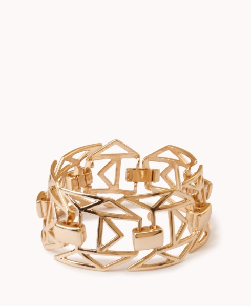 cutout geo bracelet