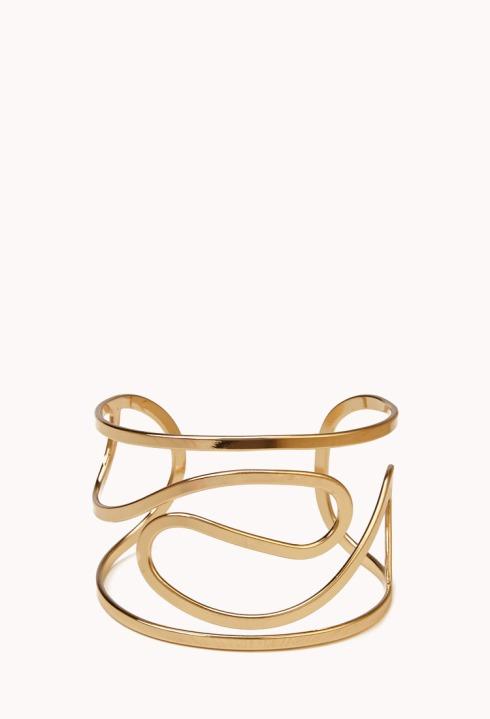 swirled cutout cuff