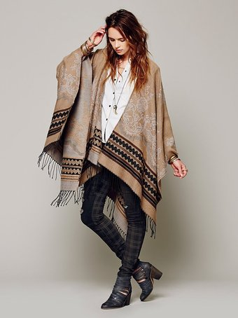 Tapestry poncho