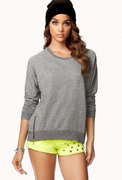 zippered sweater