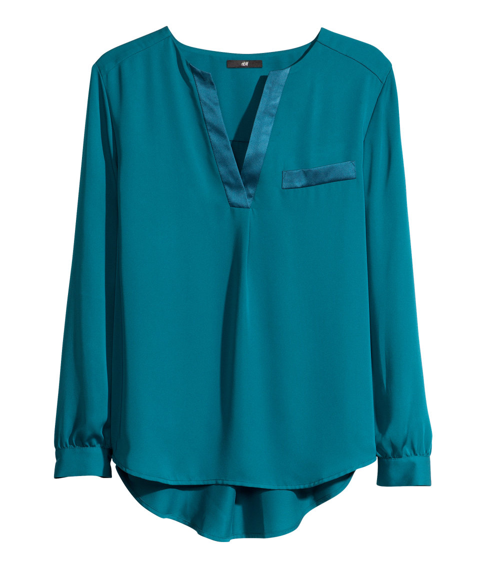 Green Blouse Womens