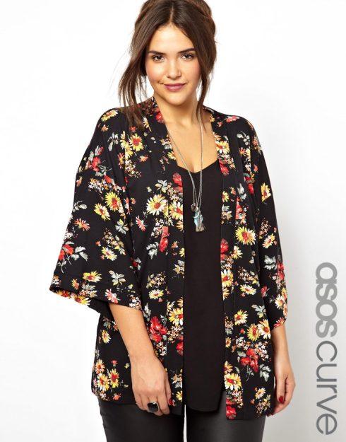 floral kimono plus size