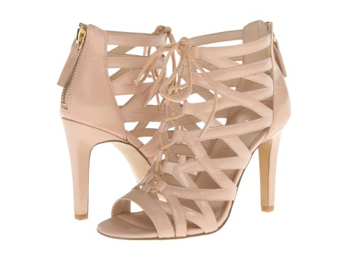 Comfortable Lace Up Caged Heels!