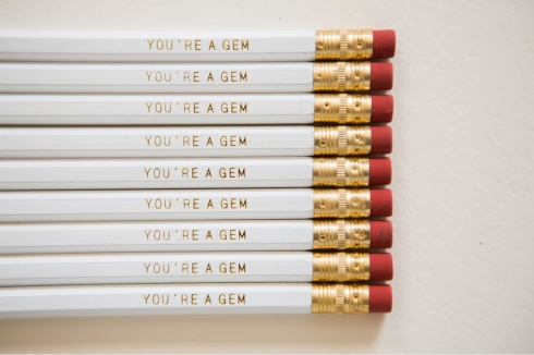 pencil set youre a gem