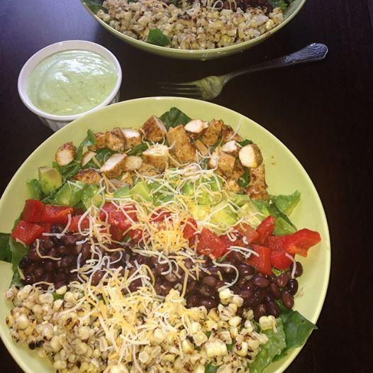Southwest Chicken Salad With Creamy Avocado Cilantro Dressing. | Your ...