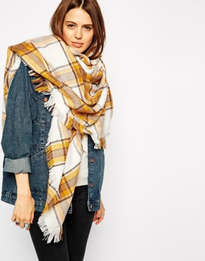 blanket scarf cream