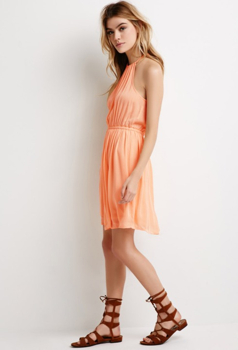 crinkled crepe dress